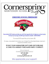 gift card fundraiser fundraising cornerspring montessori