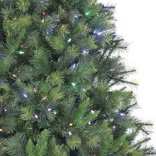 12 ft canyon pine christmas tree with multi color led string