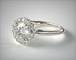 halo engagement rings floral halo engagement ring 14k white gold allen 17545w14