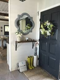 entryway storage solutions white shiplap painted doors and dark