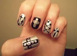 cross nail art u2026 u2013 wonderfulwolf