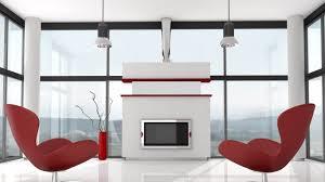 futuristic interior design brown wooden laminate end table grey