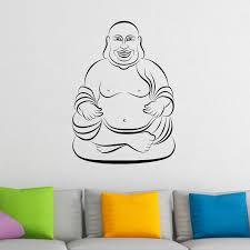 sitting buddha 2 wall sticker world wall stickers