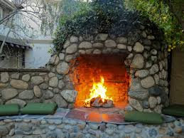 stone outdoor fireplace home design