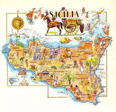 Napoli Map by Sicily Map Ebay