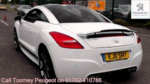 used peugeot for sale 2011 peugeot rcz gt 1 6l opal white ej11sny for sale at toomey