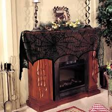 halloween black lace spiderweb fireplace scarf at a low price