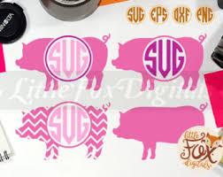 Monogrammed Scrapbook Pig Monogram