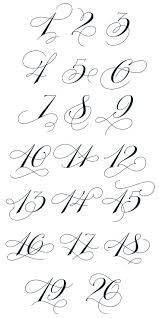 unique number fonts for tattoos 44 about remodel new design room