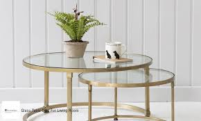 Glass Table For Living Room Glass Table Sets For Living Room Home Dzn Home Dzn