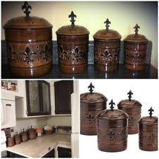 copper kitchen canister sets copper kitchen canisters jars ebay