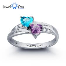 personalized rings with names online shop 925 sterling silver engagement rings birthstone
