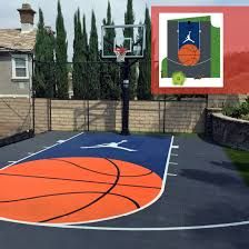 Build A Basketball Court In Backyard Design Your Own Court Design Backyard Basketball Court Design