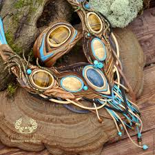 leather bracelet sets images In the shady branches of the elven forest quot necklace and a leather jpg
