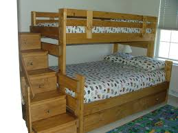 bedroom colorful triple bunk beds with old wood materials ideas