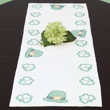 st patrick s day table runner st patrick s day table runner jack dempsey needle art