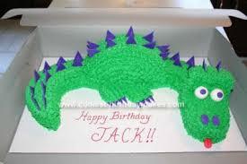 cool homemade dinosaur birthday cake idea