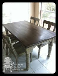 staining on top of chalk paint to create that wooden look