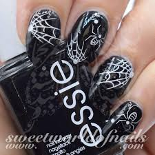 halloween nail art white spiders spider web nail water decals