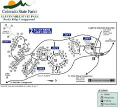 Colorado State Park Map eleven mile state park maplets