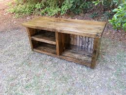 Bench With Shoe Cubby Rustic Entryway Bench