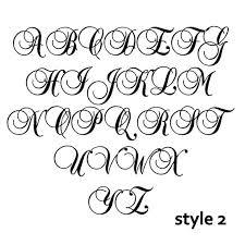 monogram letters large script monogram wooden letter with initials unpainted