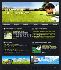 free online home page design black style web site design template professional golf paradise club