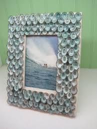 beach decor blue limpet shell frame seashell frame coastal