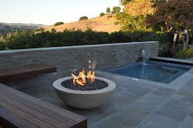Contemporary Firepit Modern Pits Outdoor Dixie Furniture