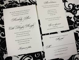 Classic Wedding Invitations Classic Black On Cream Linen Wedding Invitations And Programs