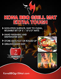 7 Best Images Of Easy by Amazon Com Kona Best Bbq Grill Mat Heavy Duty 600 Degree Non