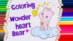 coloring wonder heart bear care bear bear drawing pages to