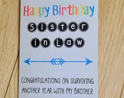 birthday card sister etsy