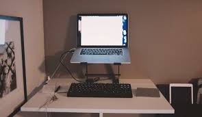 fabulous laptop desk setup with the fight between aesthetics and