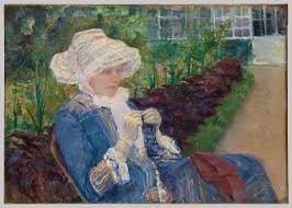 lydia crocheting in the garden at marly mary cassatt 65 184