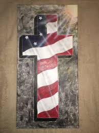 Flag And Cross Posted On Etsy Original Hand Painted American Flag Cross Acrylic