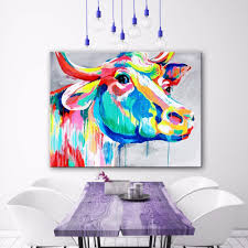 high quality cow art painting promotion shop for high quality