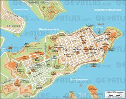 La City Map Geoatlas City Maps Valletta Map City Illustrator Fully