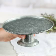 small cake stand small galvanized metal cake stand kitchen utensils kitchen and
