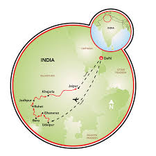Jaipur India Map by Palaces And Fortresses Of Rajasthan India Tripsite