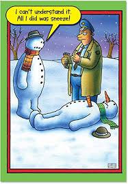 amazon com b5706 box set of 12 snowman sneeze christmas cartoon
