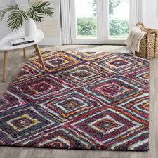 rainbow shag rug fiesta shag collection safavieh com