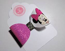 handmade bows minnie mouse bow etsy
