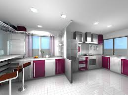 Purple Kitchen Designs by Kitchen Fetching Picture Of Kitchen Design And Decoration Using