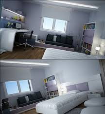 Modern Teen Bedroom Designs With Integrated Study Room - Study bedroom design