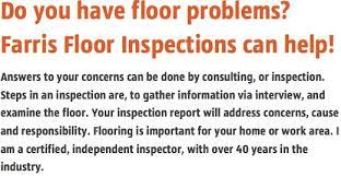 farris floor inspections home index
