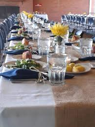 decorating charming round wedding table runner with tan burlap