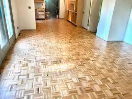 refinishing parquet wood flooring in a kitchen appleton wi