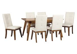 curly u0027s furniture centiar two tone brown rectangular dining room