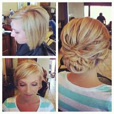 photos of short hair for someone in their sixes behind the chair ii short hair updo and long locks